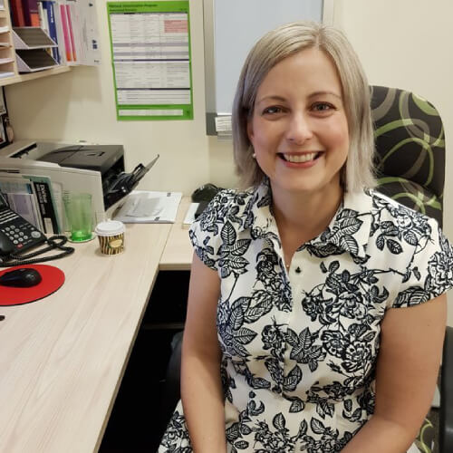 A photo of Dr Amy Weber at Carseldine Family Clinic.